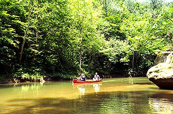 Canoeing Kentucky's Red River, Red River Gorge Geological Area, Daniel Boone National Forest
