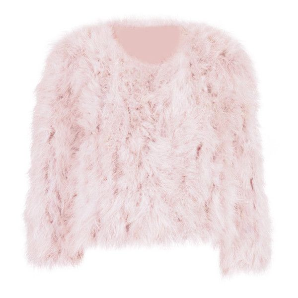 Glam Feather Jacket ❤ liked on Polyvore featuring outerwear, jackets, feather jacket and pink jacket