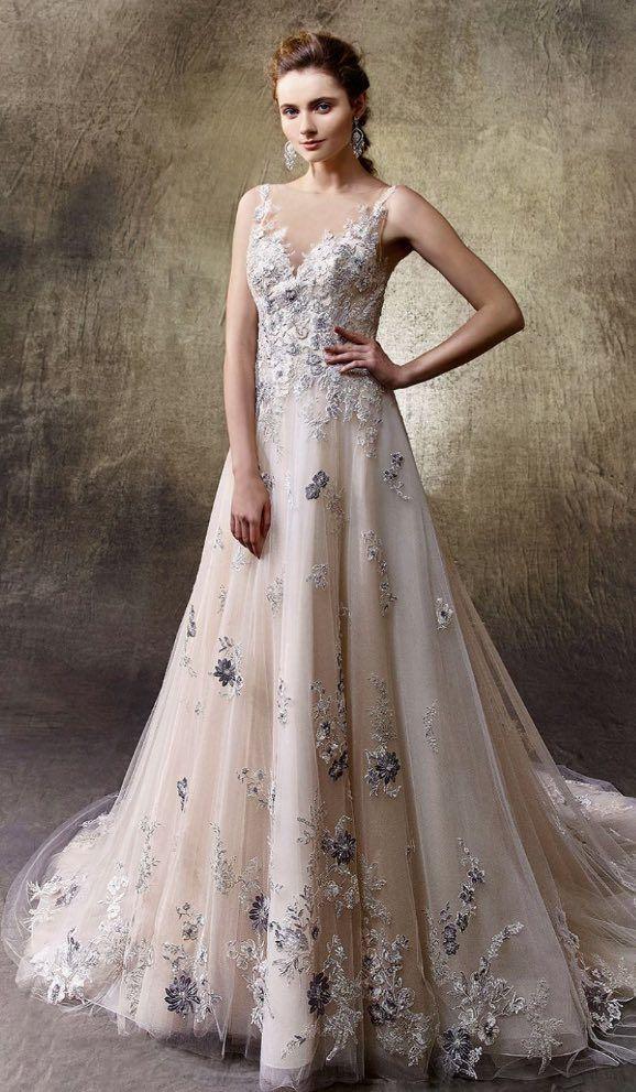 Enozani Wedding Dresses 7 04072018 Km Modwedding Enzoani Wedding Dresses Floral Wedding Dress Wedding Dress Inspiration