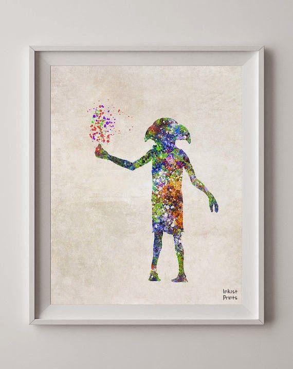 Dobby watercolour print! Isn't it so sweet?
