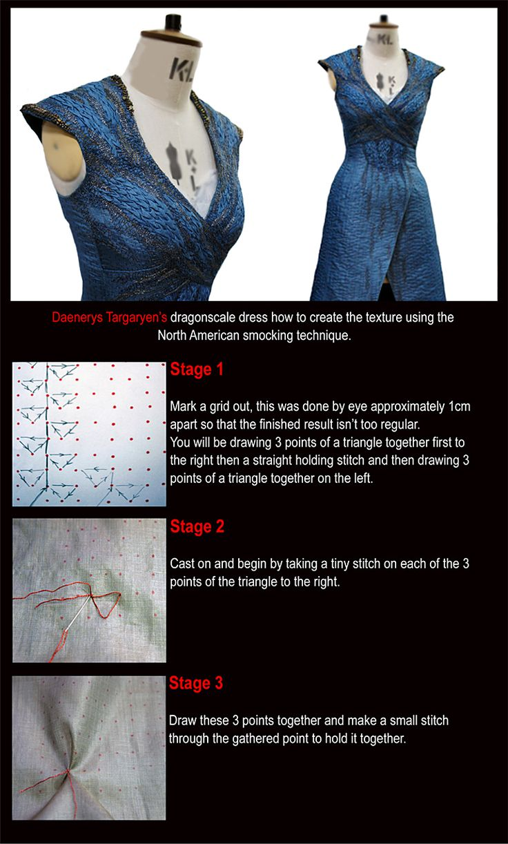 Costume Embroidery & Illustration by Michele Carragher for Film & TV - How to Create Dragonscale...pretty darn cool