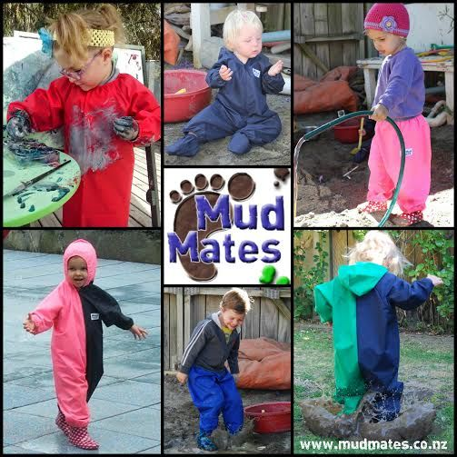 Mud Mates Are you constantly changing and washing your kid's clothes? Mud Mates can help! Our range of easy-peasy over garments slip straight on over your child's clothes - perfect for when they are making a mess! Mud Mates keep littlies clean and dry, plus they save you time washing and changing their clothes constantly. www.mudmates.co.nz www.facebook.com/mudmates