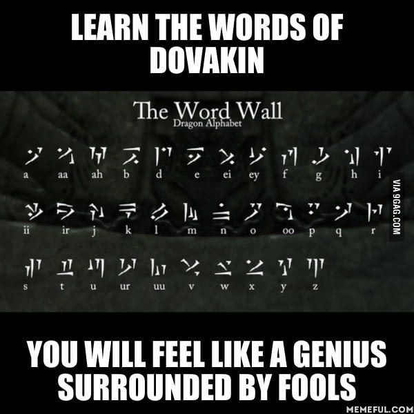Planning a Dovahzul (Dragon Language) Course from the ...