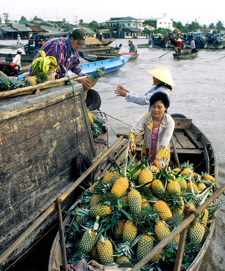 Floating markets, Mekong Delta, Vietnam ~Repinned Via Nancy Bartell Version Voyages
