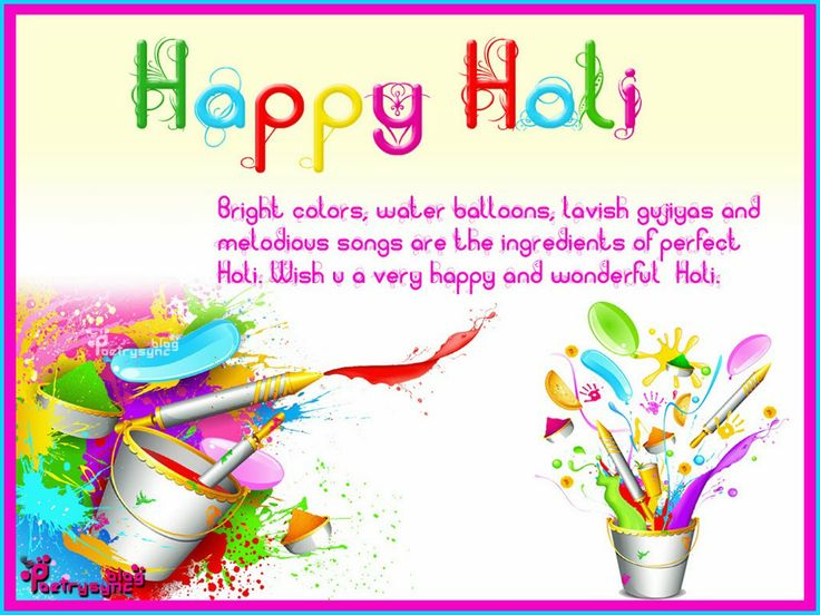 Holi Card Making Ideas Part - 41: Happy Holi Card Picture Wishes And Greetings Quote Image Wallpaper