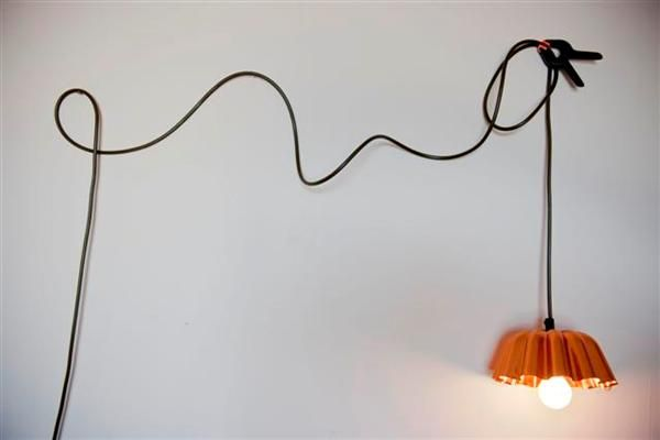 Remade Jelly Mould Light #Hanging, #Lamp, #Light, #Recycled, #Remade, #Upcycled, #Wires