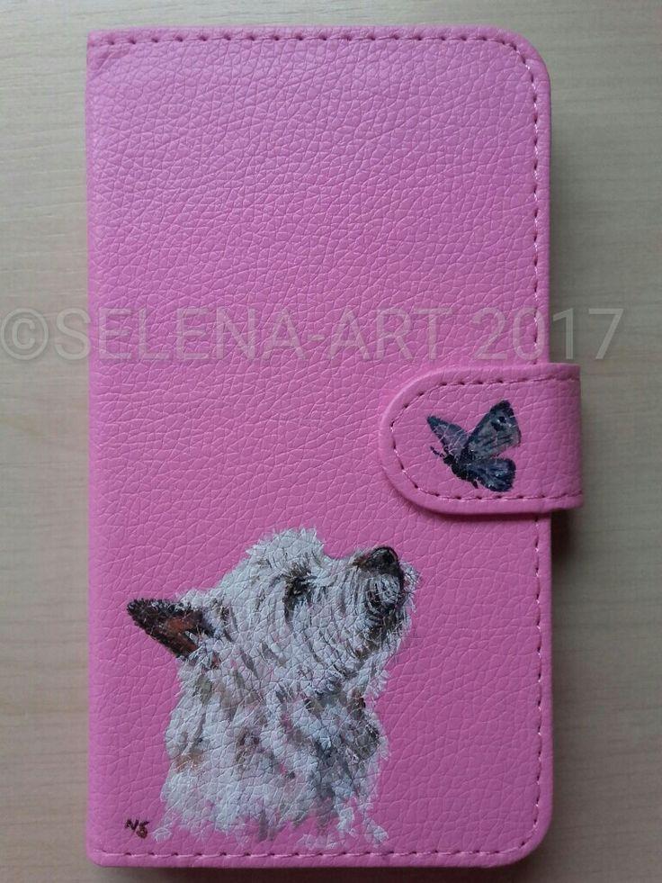 Telefoonhoesje met Cairn Terrier www.selena-art.nl
