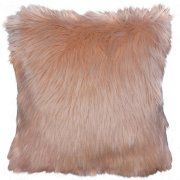 "Better Homes and Gardens Faux Fur Decorative Toss Pillow 16""x16"", Ivory Image 1 of 1"