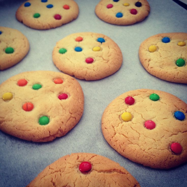 Who ate all the cookies? A simple, cheap and super fun recipe for M&M cookies #cookies #ianhewitson #m&m