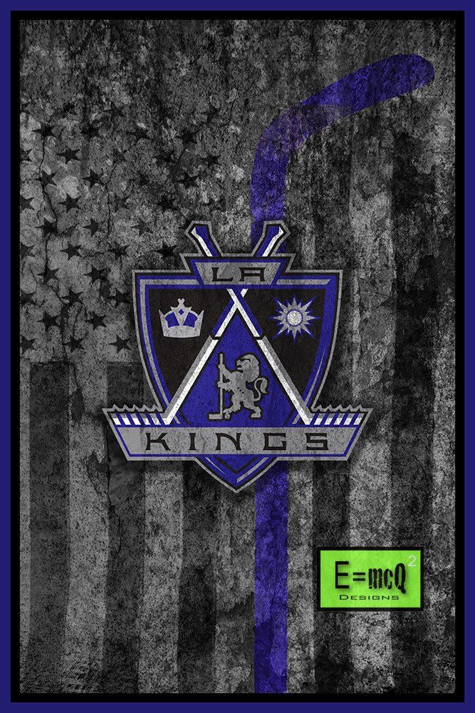 Los Angeles Kings Hockey Flag Poster, LA Kings Hockey Flag Print, Los                       – McQDesign