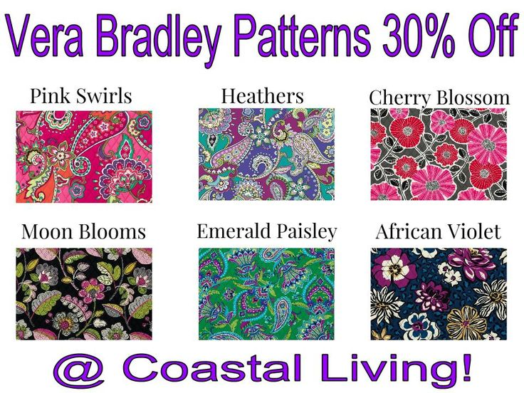 Come On In To Coastal Living Any Vera Bradley Product