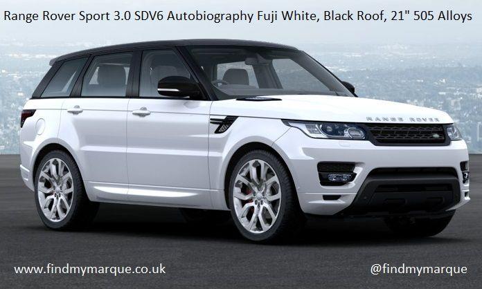 Range Rover Sport 3.0 Autobiography white/ebony & ivory, Black PanRoof