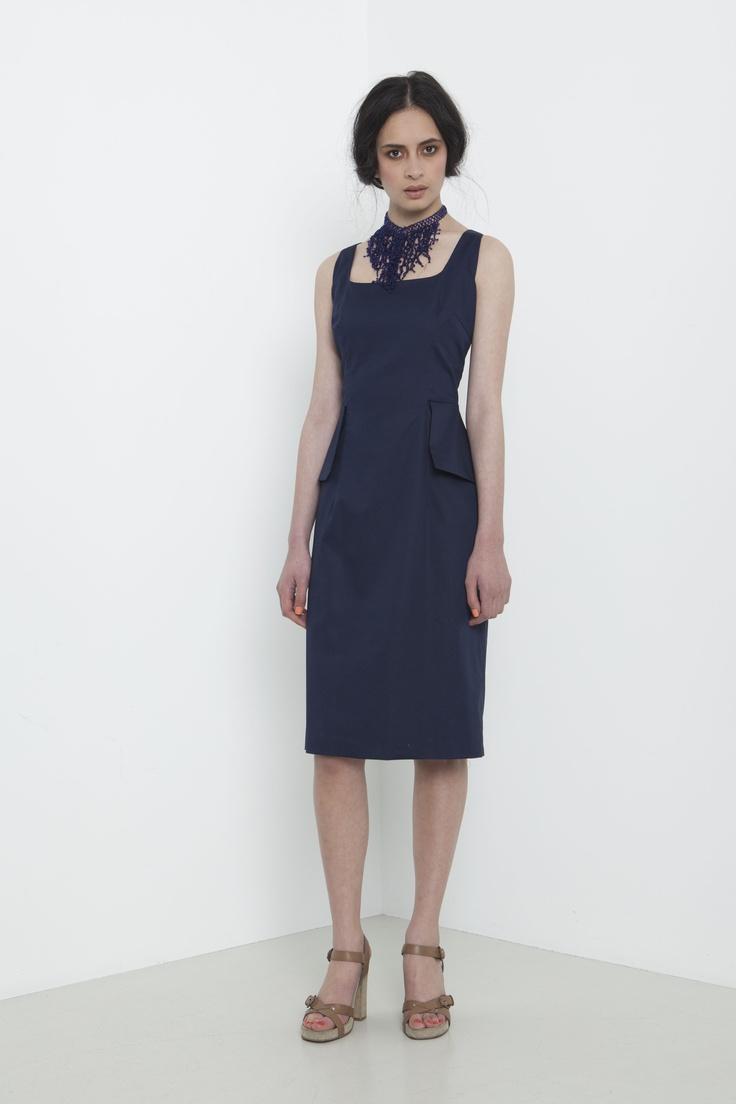 Salon Dress - french navy