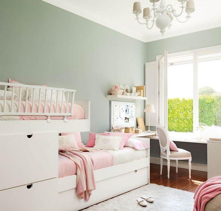 M s de 25 ideas incre bles sobre paredes de dormitorio for Dormitorio verde agua