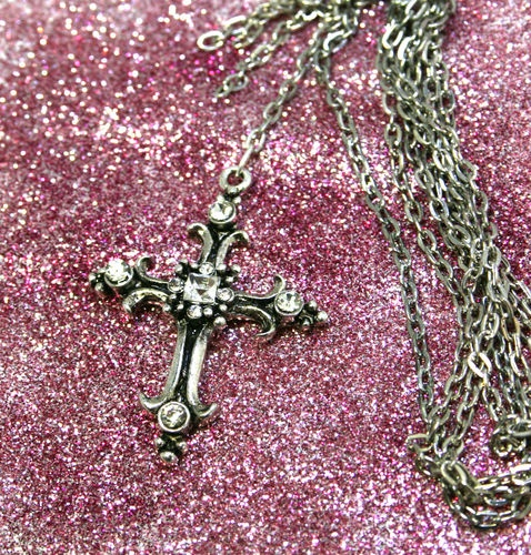Women's Long Necklaces with Cross Pendant Designed By Shelly Ann