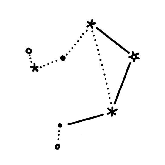 Libra Constellation Temporary Tattoo
