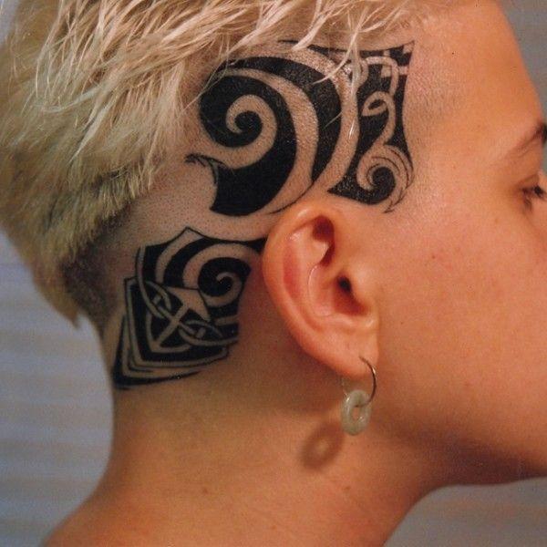 Tribal Head Tattoo On Tattoochief Com Head Tattoos Neck Tattoo Tattoos