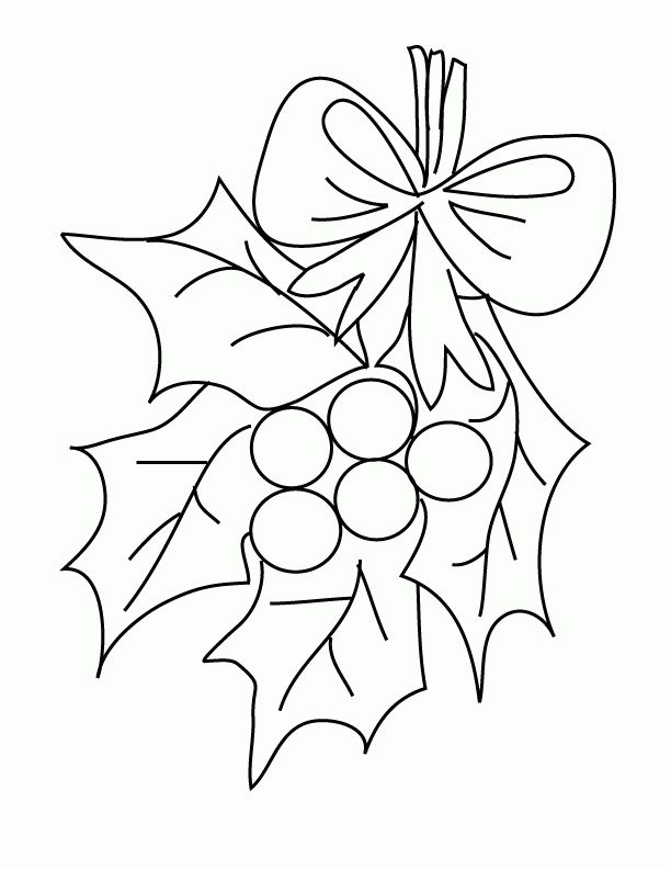mistletoe coloring pages - photo#4