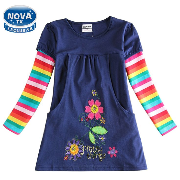 $7.68 (Buy here: https://alitems.com/g/1e8d114494ebda23ff8b16525dc3e8/?i=5&ulp=https%3A%2F%2Fwww.aliexpress.com%2Fitem%2FRetail-Girls-dresses-children-casual-princess-dress-winter-spring-party-evening-with-flowers-dress-for-girls%2F32267054936.html ) Girls dress children princess dress novatx girls clothes embroidery floral winter autumn o-neck kids dresses for girls H5802 for just $7.68