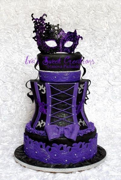 Goth purple corset wedding cake ~ Wedding Ideas