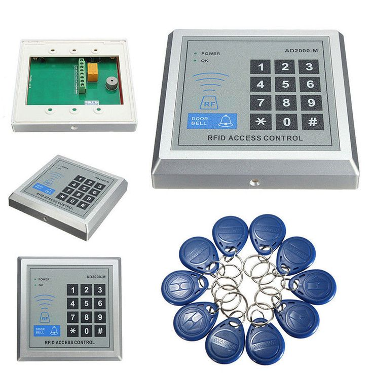 Security RFID Proximity Entry Door Lock Access Control System 500 User  10 Keys. It is an security and effective RFID access controler, and perfect for Homes and Offices. Support card password, card plus password & password plus card. | eBay!