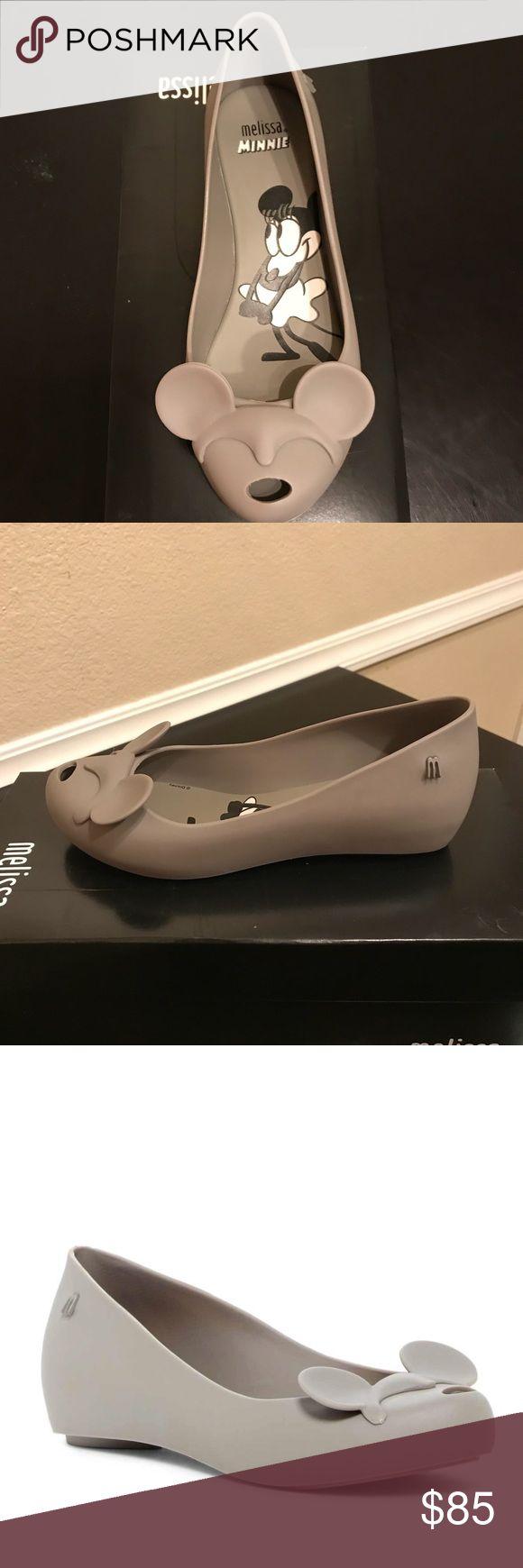 Mini Melissa Jelly peep toe flats NWB Minnie Mouse peep toe flats. Fits like a 4 in girls. Melissa Shoes Flats & Loafers