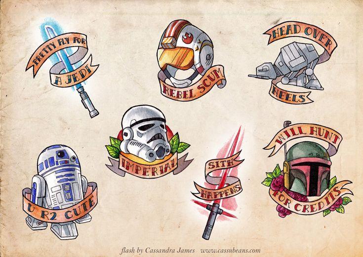 100 Star Wars Tattoo Flash Sheets Yasminroohi