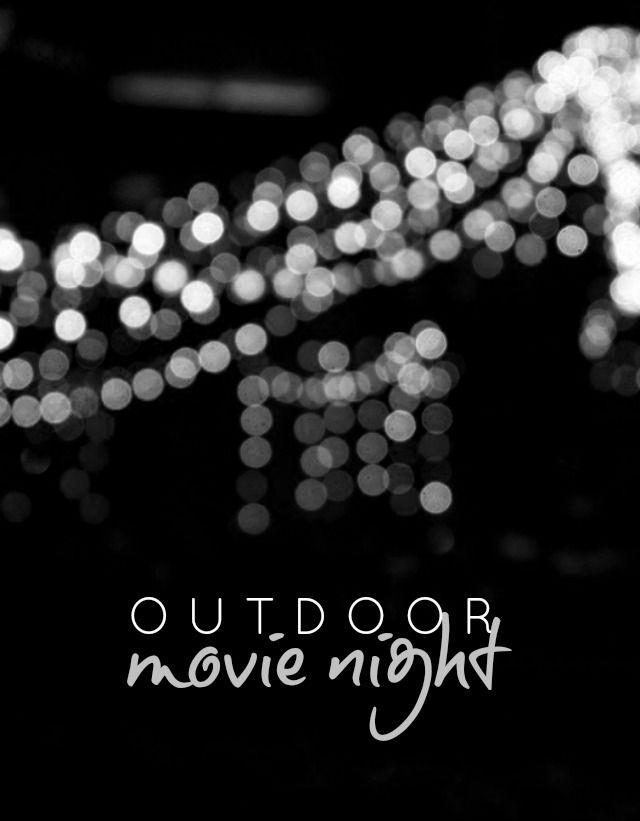 Movie Night And Snacks Horizontal Template With Black ...  |Movie Night Page Background