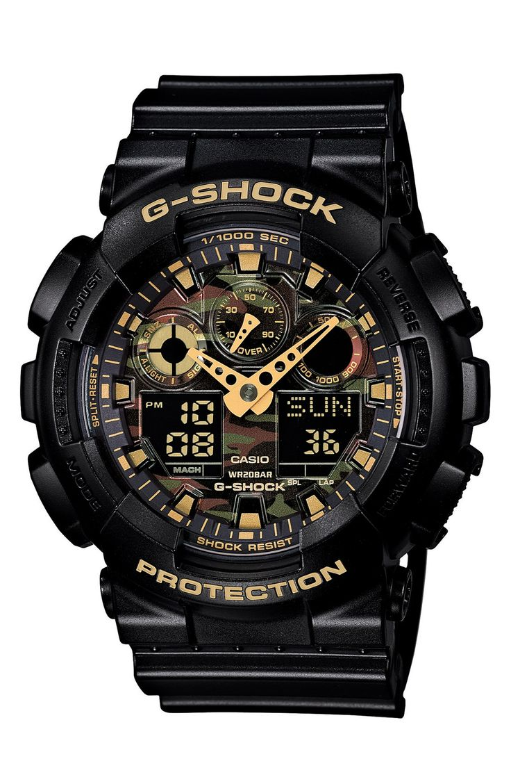 He'll love it! The camouflage pattern on this G-Shock watch is perfect for winter.