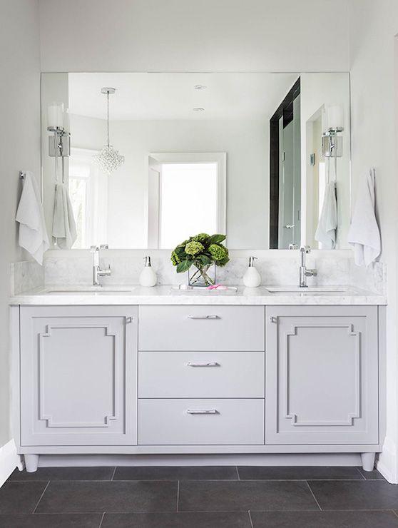 Bathroom Vanity Moldings, Transitional, Bathroom, Jodie Rosen Design