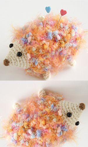 Colorful Hedgehog free pattern by Pierrot (Gosyo Co., Ltd) - another hard-to-find-the-free-pattern-link-when-I-click-on-this-photo, so here is a direct link to the pdf http://gosyo.co.jp/english/pattern/eHTML/ePDF/1108/1w/Colorful_Hedgehog.pdf   -Ricochet Crochet