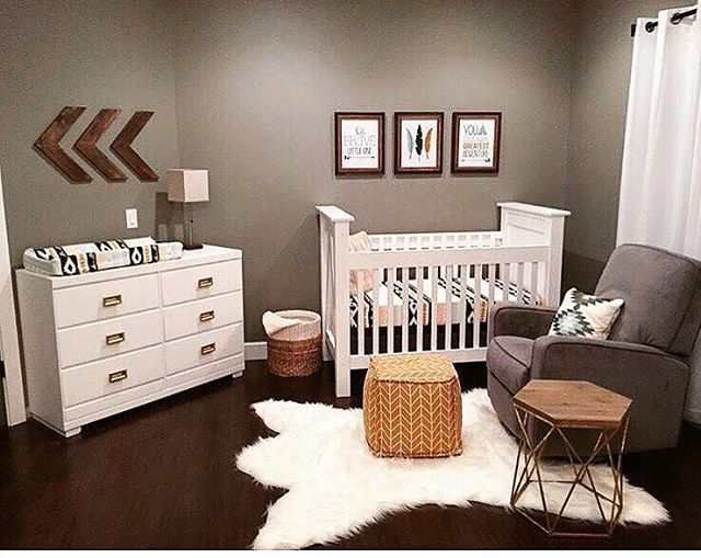 Aztec/tribal design baby nursery