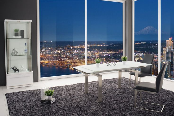Ct926 Glass Extension Dining Table. 12mm Euro Glass Tempered Anti Scratch Glass