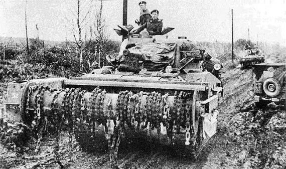 Top 10 Strangest Military Tanks Ever Designed - Sherman Flail Crab (USA)