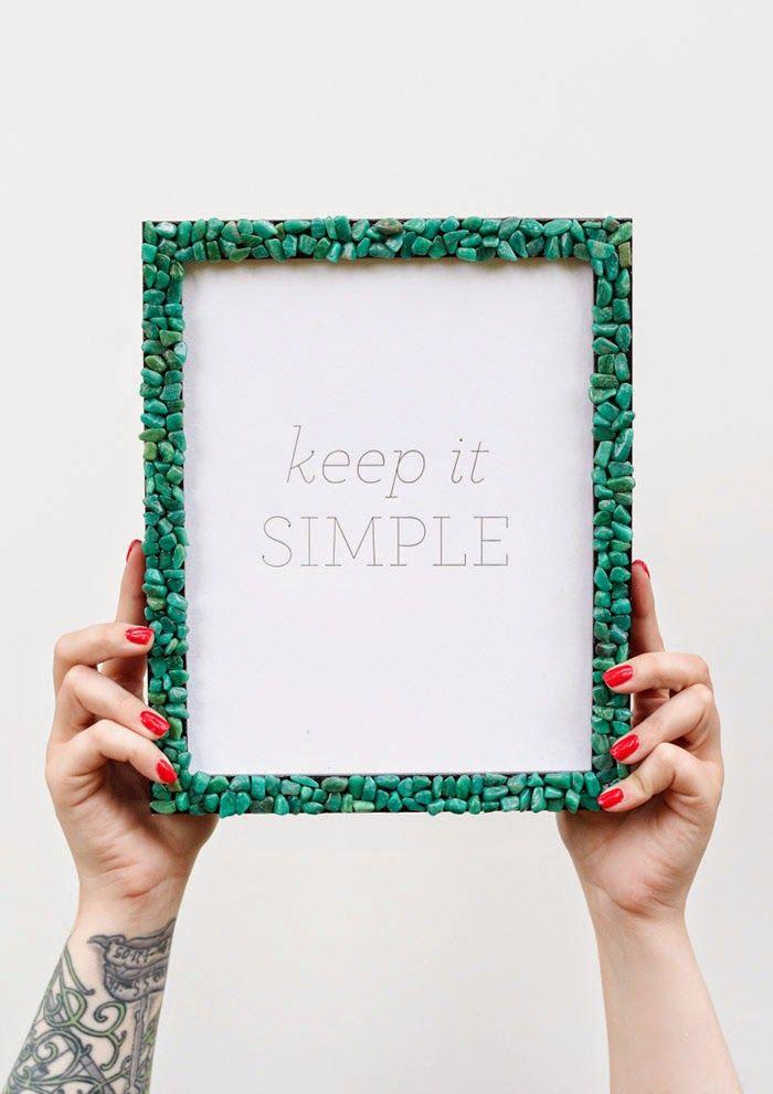 DIY: gemstone picture frame