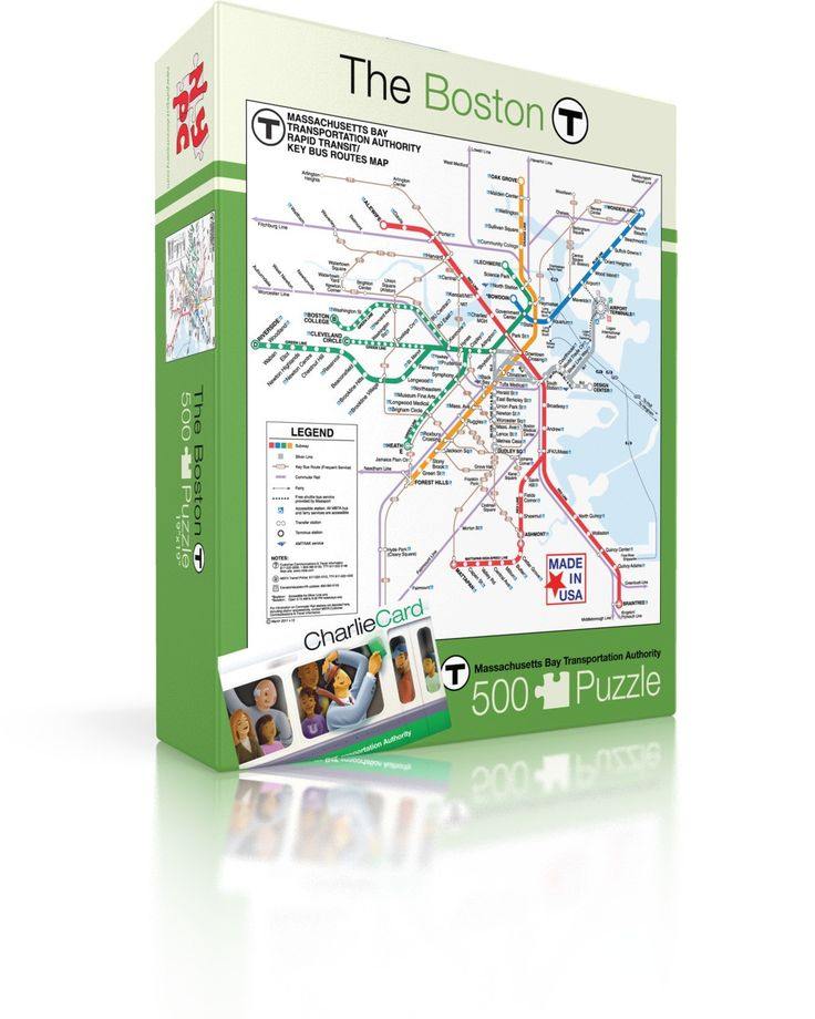 Boston T 14 best Subway Map Puzzles