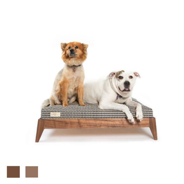 The mid-century modern Martin Deutschman Wood Dog Bed Base is the perfect holiday gift!