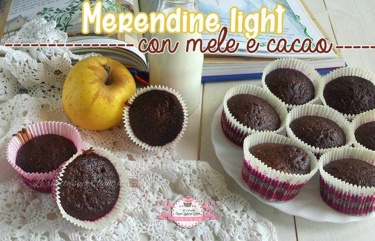 Ciao a tutti! Nuovissima ricetta light e sana per voi, sono le meredine light alle mele e cacao, perfette per i più piccoli che non mangiano volentieri la