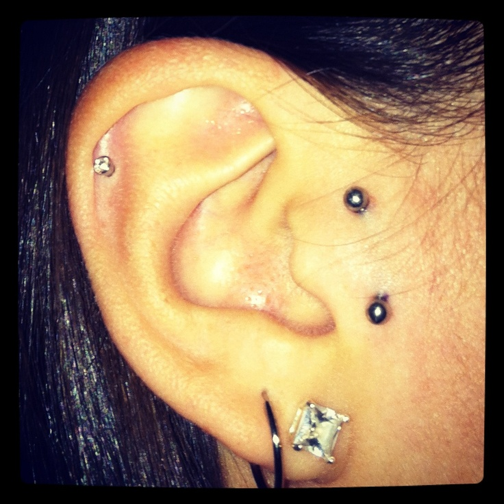 Vertical tragus piercing - @Alexandra Sexton I love this!!