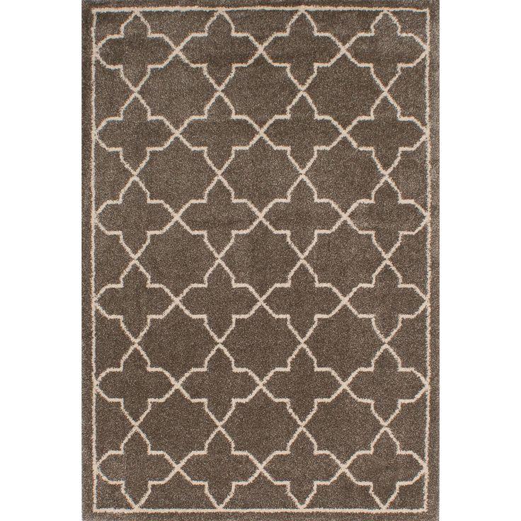 Ecarpetgallery La Morocco Brown/ Green Polypropylene Shag Rug (5u00273 X 7u00277)  By Ecarpetgallery