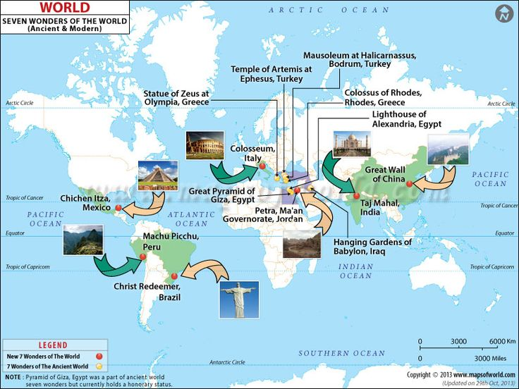world seven wonders map | Seeing the World | Pinterest