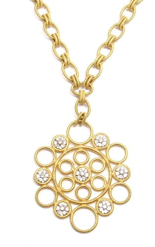 RARE Authentic Gianmaria Buccellati Maria 18K Yellow Gold Diamond Necklace | eBay - $9,500