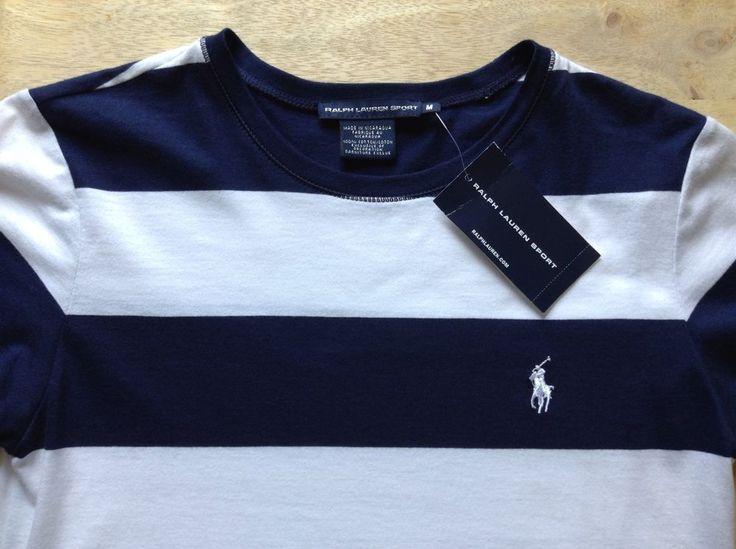 women 39 s polo ralph lauren sport navy blue white crewneck t shirt tunic. Black Bedroom Furniture Sets. Home Design Ideas