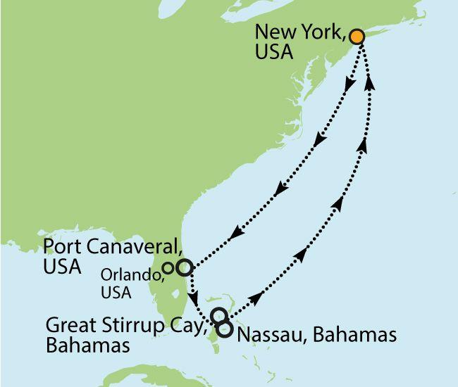 NORWEGIAN BREAKAWAY – BAHAMAS & FLORIDA AB NEW YORK - 10 Nächte Zielgebiet: USA - BAHAMAS - USA