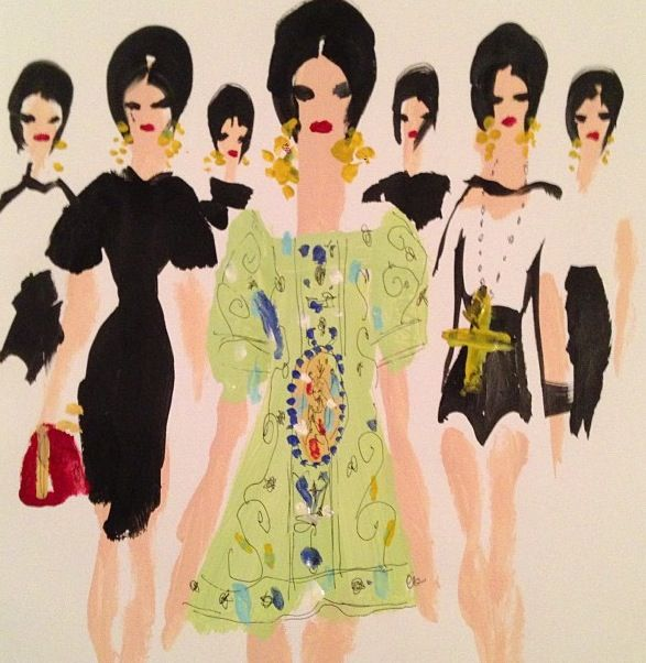 Dolce and Gabbana. Fashion illustration by Donald Drawbertson