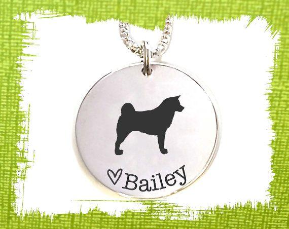 Akita Dog Necklace  Akita Dog Jewelry  Dog Pendant  by KorenaLoves