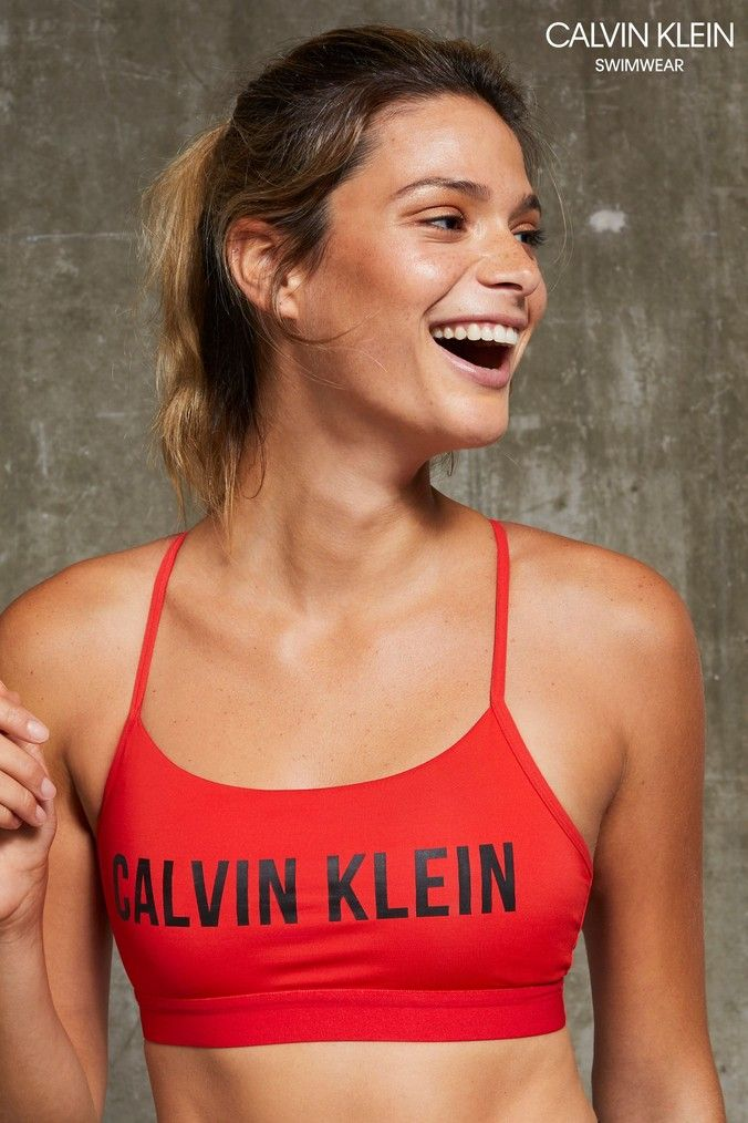 6c54f918da6 Womens Calvin Klein Performance Low Support Sports Bra - Red in 2019 ...