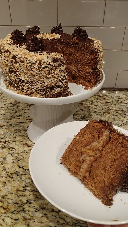 German Chocolate Cake My Husband Had A Birthday This Week He Turned The 3 0 So To Celebrate I Made Him His Favorite