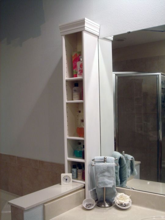 IKEA HACK - Benno dvd stand to bathroom countertop storage.