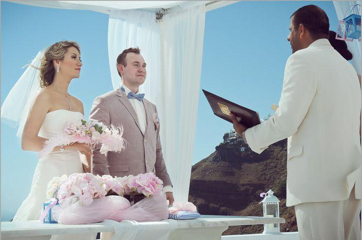 Santorini wedding ceremony #Santorini #wedding #packages